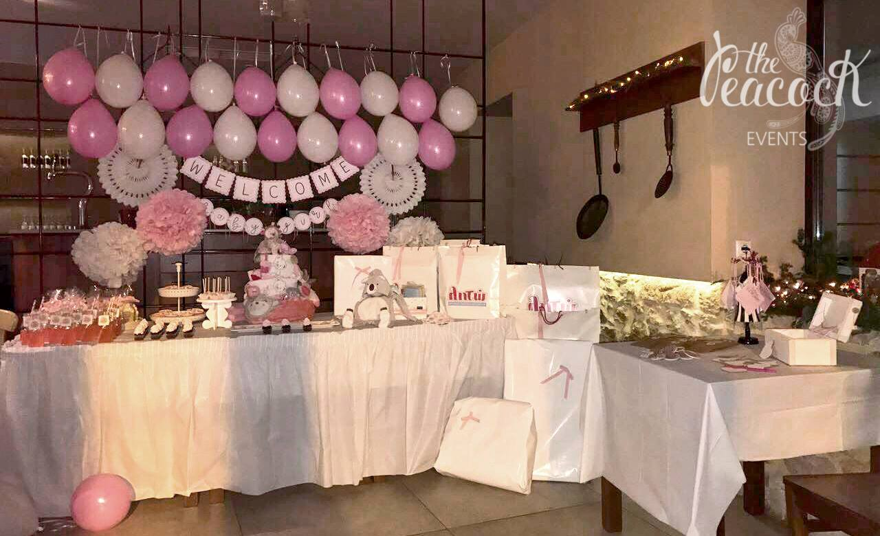 Baby Shower Setup For A Girl ~ Baby shower peacock events